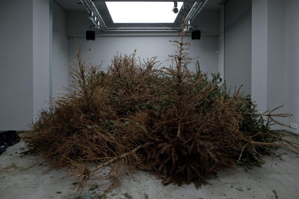 """Fragment instalacji Natalii Wiernik """"Dobrostan"""". ASP Kraów 2015"""